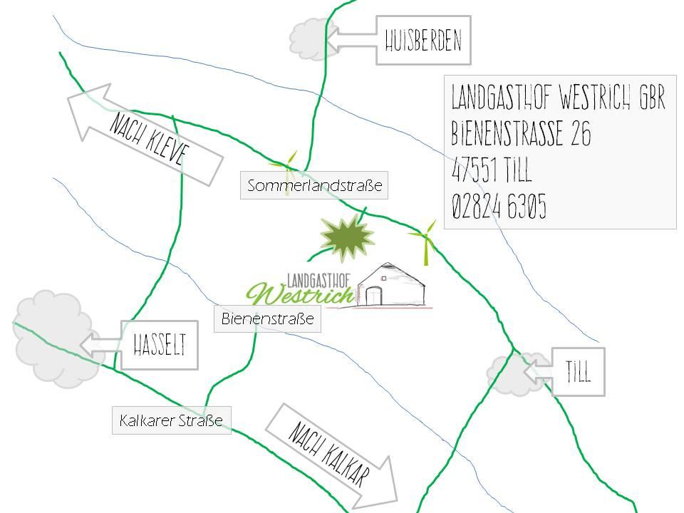 Anfahrt Landgasthof Westrich - Bienenstrasse 26